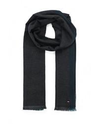 Мужской черный шарф от Tommy Hilfiger