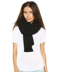 Женский черный шарф от White + Warren