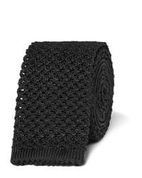 Мужской черный шелковый вязаный галстук от Tom Ford