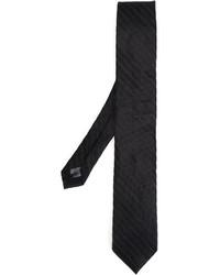 Мужской черный шелковый вязаный галстук от Tonello