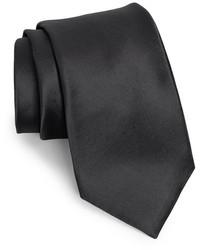 Черный шелковый галстук