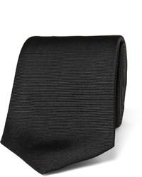 Мужской черный шелковый галстук от Turnbull & Asser