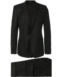Мужской черный шелковый двубортный пиджак от Dolce & Gabbana