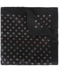 Черный шелковый нагрудный платок в горошек от Paul Smith