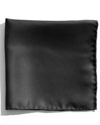 Черный шелковый нагрудный платок