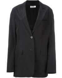 Черный шелковый пиджак