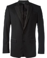 Мужской черный шелковый пиджак от Dolce & Gabbana