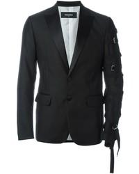 Мужской черный шелковый пиджак от DSQUARED2