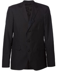 Мужской черный шелковый пиджак от Yang Li
