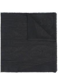 Мужской черный шелковый шарф от Etro