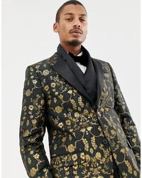 Мужской черный шелковый шарф от Twisted Tailor