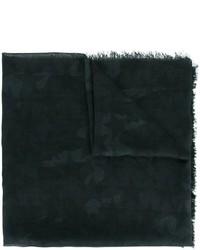 Мужской черный шелковый шарф от Valentino Garavani
