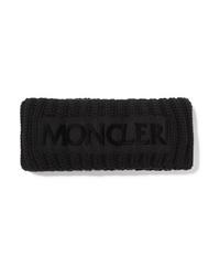 Черный шерстяной вязаный ободок/повязка от Moncler