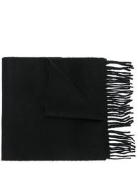 Мужской черный шерстяной вязаный шарф от Pringle