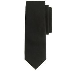 Черный шерстяной галстук