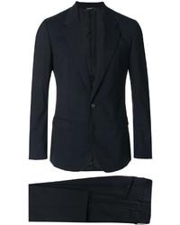 Мужской черный шерстяной двубортный пиджак от Dolce & Gabbana