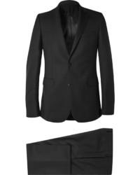 Черный шерстяной костюм