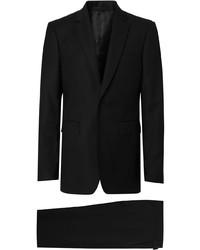 Черный шерстяной костюм от Burberry