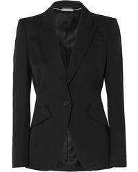 Женский черный шерстяной пиджак от Alexander McQueen