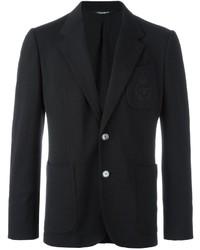 Мужской черный шерстяной пиджак от Dolce & Gabbana