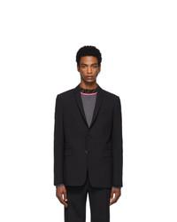 Мужской черный шерстяной пиджак от Fendi