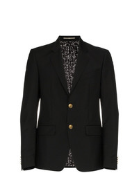 Мужской черный шерстяной пиджак от Givenchy