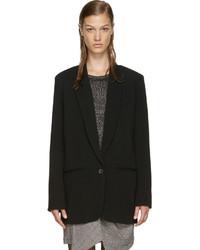 Женский черный шерстяной пиджак от Isabel Marant