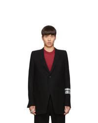 Мужской черный шерстяной пиджак от Rick Owens