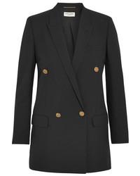 Женский черный шерстяной пиджак от Saint Laurent