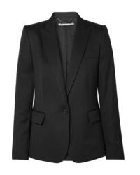 Женский черный шерстяной пиджак от Stella McCartney