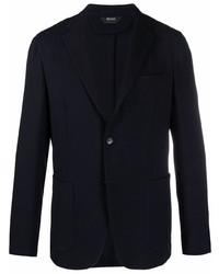 Мужской черный шерстяной пиджак от Z Zegna