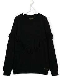 Детский черный шерстяной свитер для девочке от Finger In The Nose