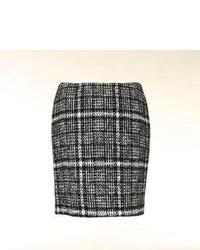 Шерстяная мини-юбка в клетку