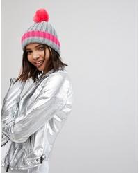 Женская ярко-розовая вязаная шапка от Brave Soul
