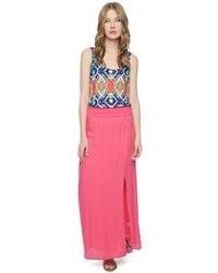 ярко розовая длинная юбка original 4145293