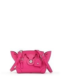 Ярко-розовая кожаная сумка-саквояж