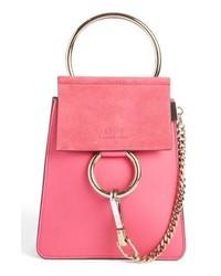 Ярко-розовая кожаная сумочка