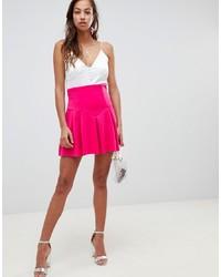 Ярко-розовая короткая юбка-солнце от ASOS DESIGN