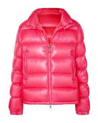 Ярко-розовая куртка-пуховик