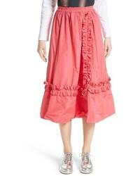 Ярко-розовая пышная юбка