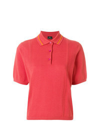 Ярко-розовая рубашка поло