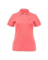 Женская ярко-розовая рубашка поло от Jack Wolfskin