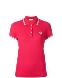Женская ярко-розовая рубашка поло от Moncler
