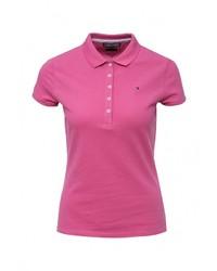 Женская ярко-розовая рубашка поло от Tommy Hilfiger