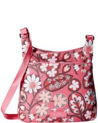 Женская ярко-розовая сумка через плечо из плотной ткани с принтом от Vera Bradley