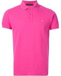 Ярко-розовая футболка-поло