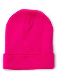 Ярко-розовая шапка