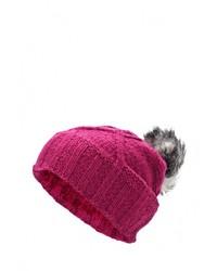 Женская ярко-розовая шапка от Salomon