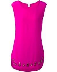 Ярко-розовая шелковая майка