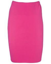 Ярко-розовая юбка-карандаш